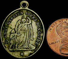 P515: Late 1800's Canada (Saints Anges, Quebec) Catholic Icon Medal