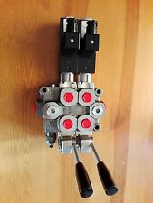 NEW HYDRAULIC BANK MOTOR 2 SPOOL VALVES 60 l/min ELECTRIC 12V + LEVER  GALTECH