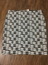 New With Tags's Women's Ann Taylor Loft Black-And-White Skirt Size Medium