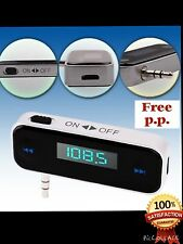 Car wireless MP3 FM radio transmitter+HANDS FREE for Mobile.......FREE SHIPPING
