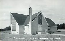 A View Of St John's Lutheran Church, Laona, Wisconsin WI RPPC