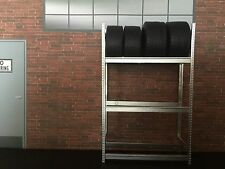 1/18 Diorama Tire Rack With Tires For Garage Parts, Display, Snap-on.