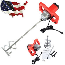 Electric Mortar Mixer 1600W Dual High Low Gear 6 Speed Paint Cement Grout New