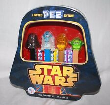Limited Edition Star Wars Pez with Darth Vader Yoda c-2po r2-d2 Collector's Tin