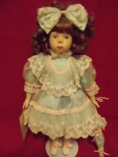 "NEW DYNASTY DOLL ANNA COLLECTION ""MARCELLA"" PORCELAIN DOLL WITH HANDTAG"