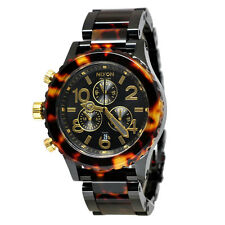 New Authentic Nixon Watch 42-20 Chrono All Black Tortoise A037-679 A037679