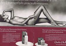 Publicité Advertising 016 1980 Charles of the Ritz seins nus (2 pages)