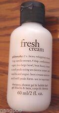 2oz Travel PHILOSOPHY **FRESH CREAM** 3in1 Shampoo Shower Gel Bubble Bath Soap!!
