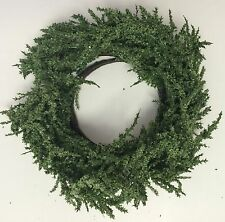 """Home Interiors artificial foliage candle ring wreath 7"""""""