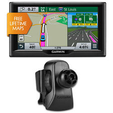 "Garmin nuvi 67LM 6"" Essential Series 2015 GPS System w Lifetime Maps Vent Bundle"