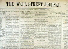 Original 1930 Wall Street Journal newspaper STOCK MARKET CRASH Great Depression
