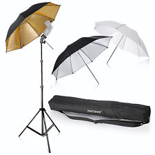 Neewer Photo Studio Three Umbrella Kit for Product,Portrait, Video Shoot