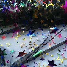 "PER METRE  black wizards star lace net fabric 60 "" wide halloween/fancy dress"
