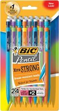 Bic Mechanical Pencils with Colorful Barrels, Thick Lead 0.9mm, #2, 72/Pack