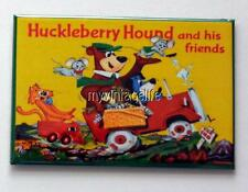"HUCKLEBERRY HOUND YOGI BEAR & FRIENDS Lunchbox Retro 2"" x 3"" Fridge MAGNET Art"