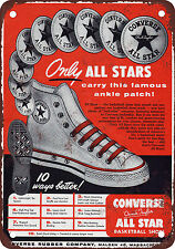 "1949 Converse All Stars 10"" x 7"" Reproduction Metal Sign"