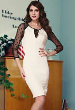 Sexy Women Long Sleeve Bandage Bodycon Pencil Evening Cocktail Party Club Dress