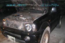 98-11 Suzuki Jimny SUV Engine Bonnet Lift Shock Black Stainless Hood Damper Kit
