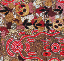 AUSTRALIAN ABORIGINAL Quilting Fabric EMU EGG RED by FQ and Metre