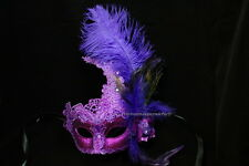 Exquisite quality brocade Lace Masquerade feather mask New Year Mardi Gras party