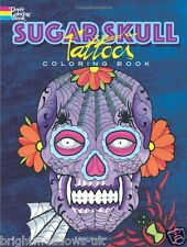 Sugar Skull Tattoos Adult Colouring Book Creative Art Therapy Relax Gothic Dead