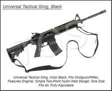 Universal Tactical Sling, Black AR-15 M4 Shotguns Rifles Two-Point Nylon Design