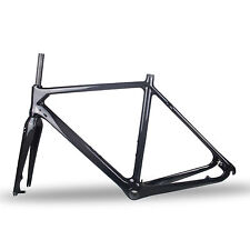 Full Carbon Cyclocross Bike Frame Fork 160mm Rotor Disc Brake 54cm UD Matte BB30