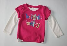 New Gymboree Color Happy Line Bright & Merry Pink Top Size 2T NWT
