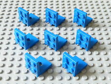 Lot de 8 supports 2x2 - 2x2 bleus / blue brackets, LEGO, #3956