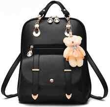 Women Girl Fashion PU Leather School Shoulder Bag Backpack Travel Rucksack Purse