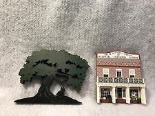 "2 Shelia's 1995/96 Wood Shelf Sitter ""Gone With The Wind"" tree & General Store"