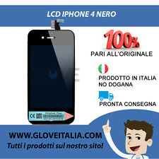 VETRO SCHERMO DISPLAY LCD IPHONE 4 ORIGINAL PASS NERO CORRIERE 24H !!