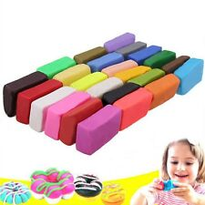 24Colour Oven Bake Polymer Clay Block Soft Modelling Moulding Colorful DIY Toys