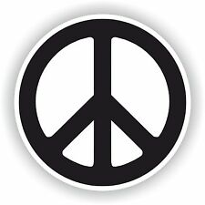 Peace Logo Sticker Love Sign Gas Tank Tablet Truck Door Fridge Boat Skateboard