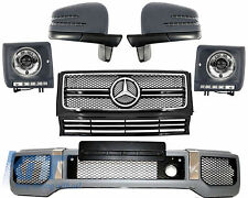 Mercedes W463 G65 G63 G AMG Kit Front Bumper Grille Cover Headlights CHROME.
