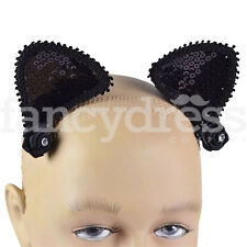 Cat Ears on Hair Clips Adult Animals Nature Fancy Dress Halloween Accessory NEW
