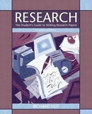 Research: The Student's Guide to Writing Research Papers (4th Edition)