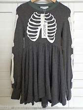 NWT WILDFOX COUTURE Skeleton Babydoll Dress Halloween X-Small XS *FREE PRIORITY*