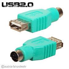 """""""USB-PS2-Adapter USB-A-Buchse an PS2-Stecker grün"""
