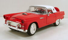"""MotorMax 1956 Ford Thunderbird 1:24 scale 8"""" diecast Model Car Red M401"""