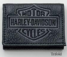 Harley-Davidson/Mascorro Leather Embossed Bar & Shield Tri-Fold Wallet