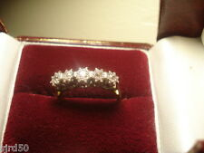 Beautiful Vintage 18ct Gold & Plat Diamond Five Stone Ring