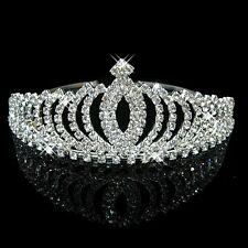 Wedding Bridal Flower Girls crystal Prom Pageant Prom tiara crown headband