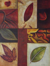 Abstract Automn Leaves Huge Oil Painting Canvas Contemporary Original Modern Art