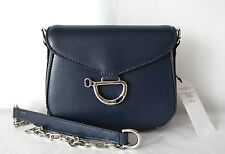 New Authentic Ralph Lauren Leather Newbury Small Mini Cross Body Bag Navy