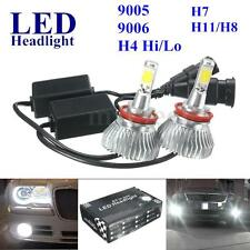 2x H4 H7 9005 9006 H11 H8 60W LED Headlight Car Conversion Lamp Bulb 6000LM 12V
