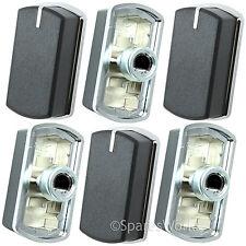 6 x switch bouton pour belling FSG60D FSG60DOP plaque four noir argent 083240900