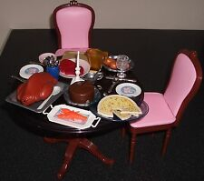 Vintage Sindy/Barbie Dining Table,Chairs & Accessories,Food,Plates,Cutlery etc