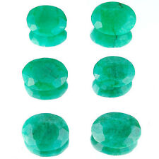 142 Cts/6 Pcs Natural Finest Green Emerald Earth Mined Gemstones ~ Wholesale Lot