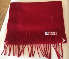 NWT Authentic Yves Saint Laurent Scarf 100% Wool Made In Italy RED